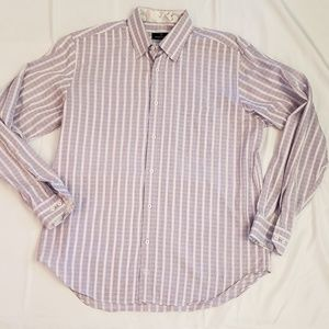 Bugatchi Uomo Button Down Dress Mens Shirt X-Large